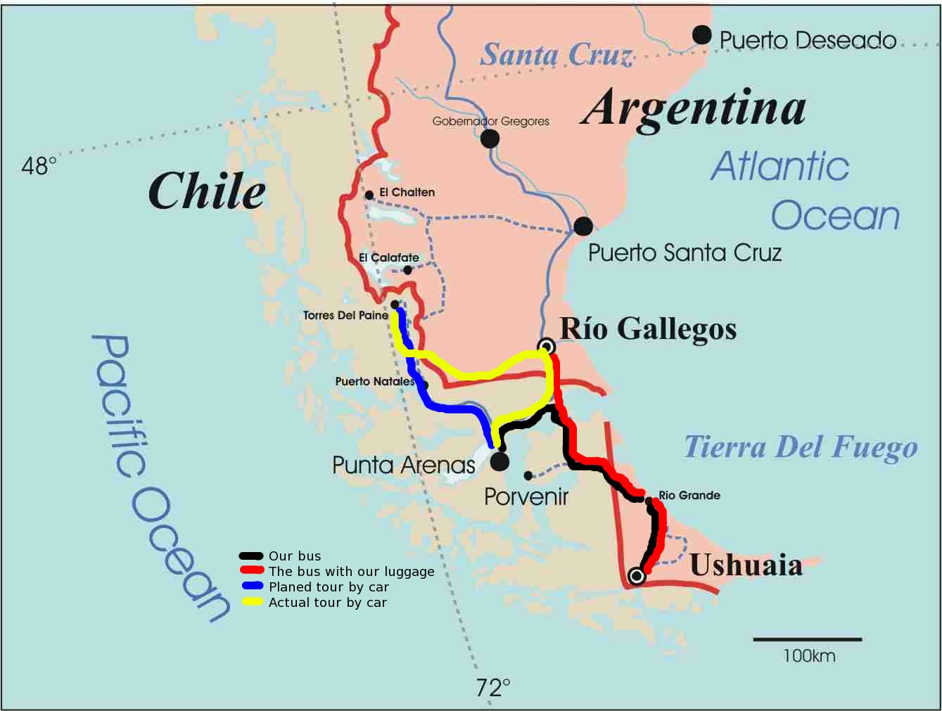 First Smaller Issues With The Trip Vlad Bronxis Travel Blog - Argentina bus map